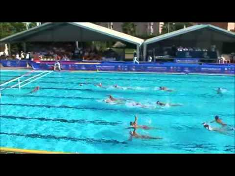 Montenegro (blue) Serbia (white) 2012 European Junior Water Polo Championships