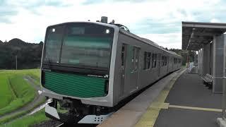 JR烏山線EV-E301系 小塙到着
