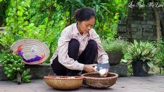 Mộc mạc vị quê với bánh khoai sọ mẹ làm ngon hết ý ( Vietnamese Small Taro Cake ) I Ẩm Thực Mẹ Làm