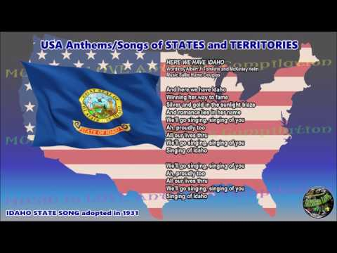Idaho State Song HERE WE HAVE IDAHO with vocal and lyrics