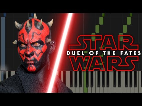 Star Wars: Duel Of The Fates - Piano Tutorial (Synthesia & Sheets)