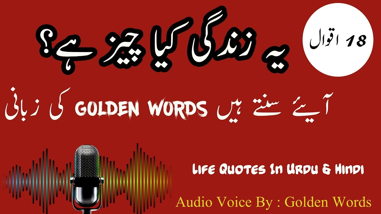 Audio Quotes About Life Mesmerizing 18 Best And Inspirational Life Quotes In Urdu And Hindi  Urdu