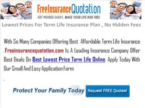 Get A Cheap And Affordable Term Life Insurance Quote Online Be A Mesmerizing Cheap Term Life Insurance Quotes