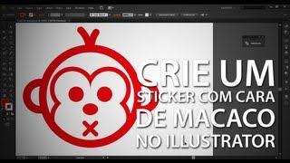 Crie um sticker de cara de macaco no Illustrator