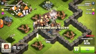 Clash Of Clans | Level 3 Giants Raid!!
