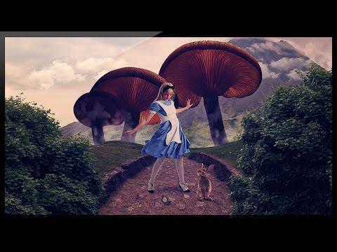 Photoshop Compositing Tutorial - Alice in Wonderland