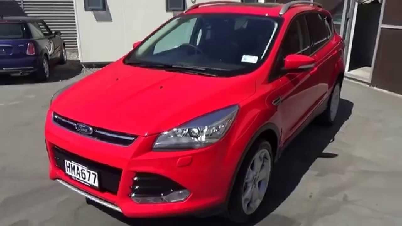 Ford Escape Titanium >> Ford Kuga Titanium AWD Ecoboost 2014 - Race Red - YouTube