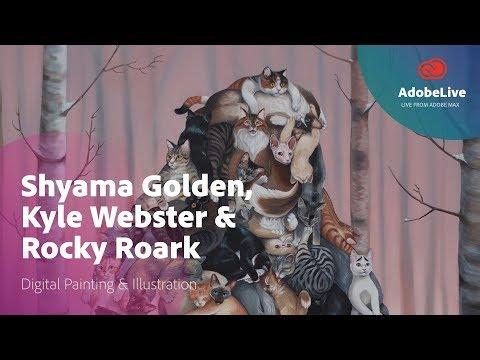 Live with illustrators Shyama Golden, Rocky Roark & Kyle Webster  | Adobe MAX 2017