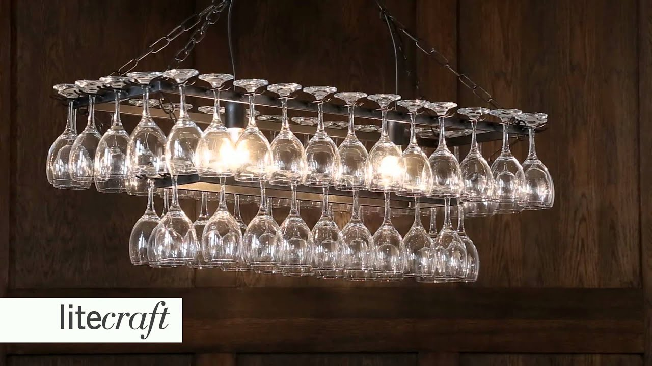 Wine glass chandelier litecraft lighting your home youtube aloadofball Images