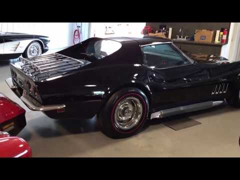 1969 Corvette Coupe Big Block #s Matching 427/390hp 4spd Tuxedo Black/Blue Frame off resto **For Sa