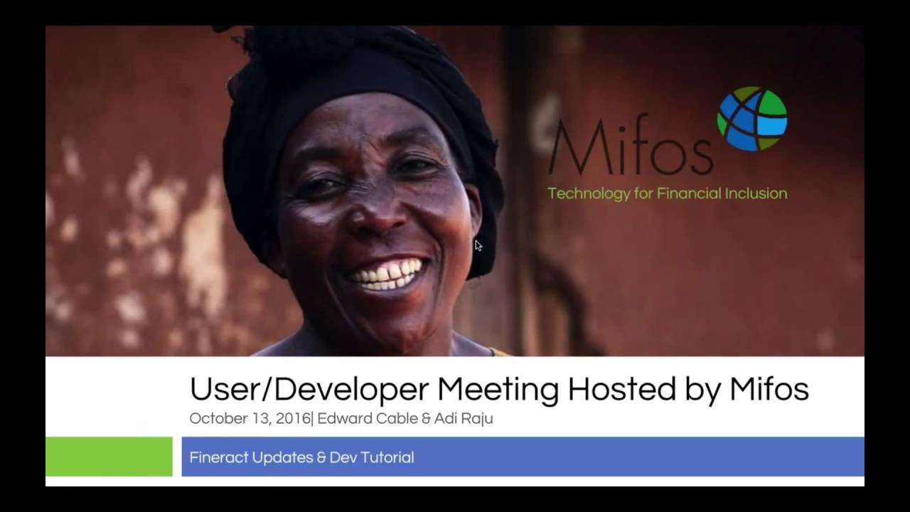Fineract User/Dev Meeting Hosted by Mifos - Oct 13 - OpenJPA integration