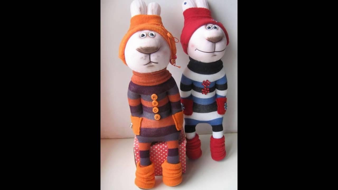 Игрушки зайцы из носков своими руками фото 285