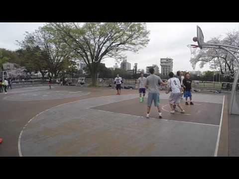 Mike Does Japan - Pickup Basketball at Yoyogi Park