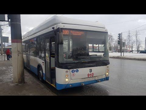 """Междугородний троллейбус ! Маршрут № 100 """"Чебоксары - Новочебоксарск""""."""