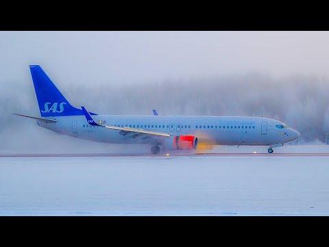 A Helsinki to Stockholm Winter Flight On SAS