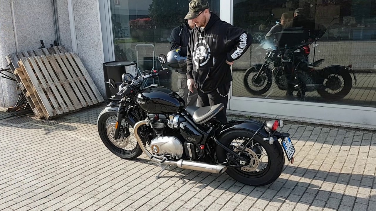 Triumph Bobber With Vance Hines Youtube