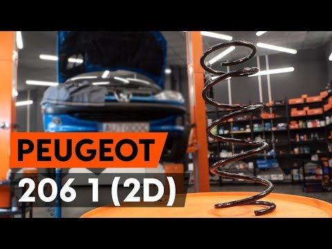 How to replace front springs / front coil springs on PEUGEOT 206 1 (2D) [TUTORIAL AUTODOC]
