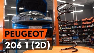 How to change front springs / front coil springs on PEUGEOT 206 1 (2D) [TUTORIAL AUTODOC]