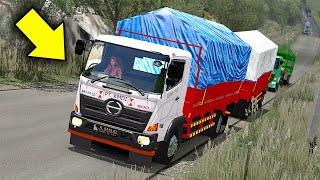 Truck Gandeng Hino Kehabisan Nafas Gak Kuat Nanjak