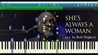 Billy Joel - She's Always a Woman (piano arr. by Rob Hughes) w/ sheet music