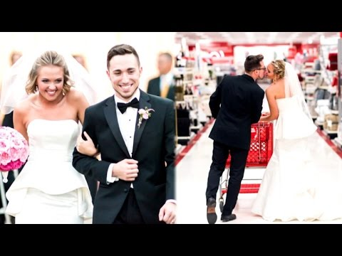 Bride Obsessed With Target Re Creates Wedding Photos At Store Youtube