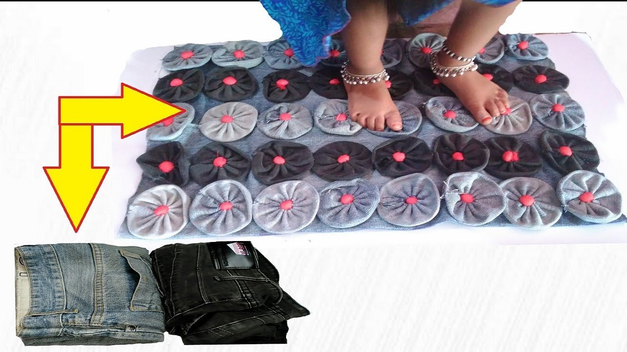 How To Make Doormat With Old Jeans Make Awesome Door Mat