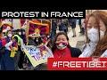 TIBETANS IN FRANCE REVOLT AGAINST CCP AMID PANDEMIC   TIBETAN VLOGGER   TIBETANS IN FRANCE