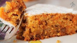 Постный, Рассыпчатый Морковный Кекс к Чаю. Очень Простой Рецепт