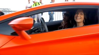 GIRL driving Lamborghini Aventador!