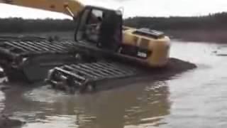 Плавающий экскаватор AmphiMaster на базе Катерпиллер (Caterpillar)(Специальный плавающий экскаватор (болотоход). Этот экскаватор, специально предназначен для проведения..., 2015-04-13T15:07:34.000Z)