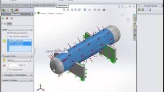 pressure vessel simulation by solidworks ( Ibrahim Elkelany )