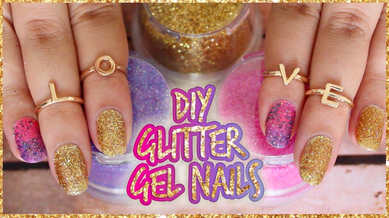 Diy craft glitter gel nails youtube solutioingenieria Choice Image