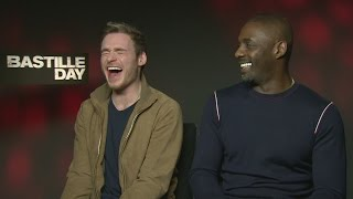 Bastille Day: Idris Elba and Richard Madden giggle about fart sounds and 'bollocks'
