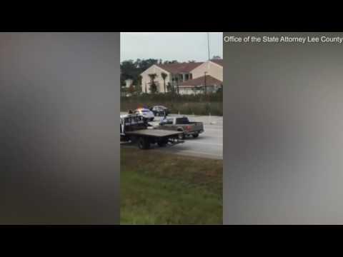 Moment Good Samaritan shot man who was beating up a deputy