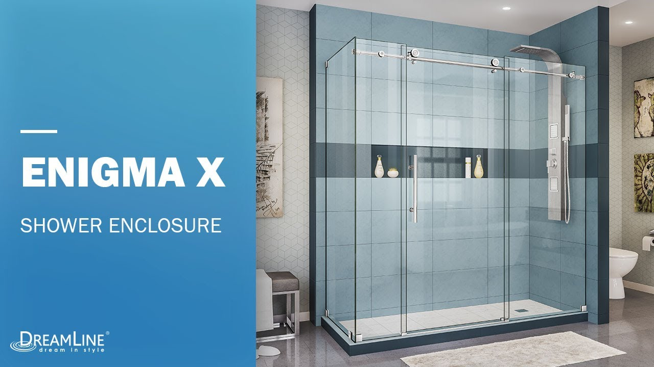 DreamLine Enigma-X Frameless Shower Enclosure | Sliding Opening ...