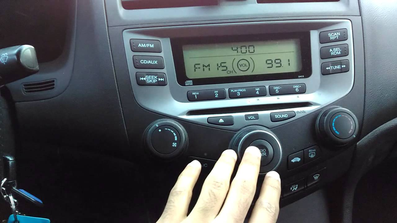 Radio Audio Issue With The  Honda Accord