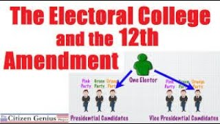 12th Amendment - Presidential Elections & the Electoral College - Save Our Republic! #66