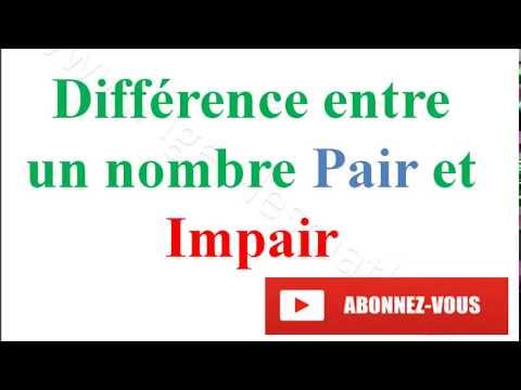 Différence entre Nombre Pair et Impair | Pigerlemaths