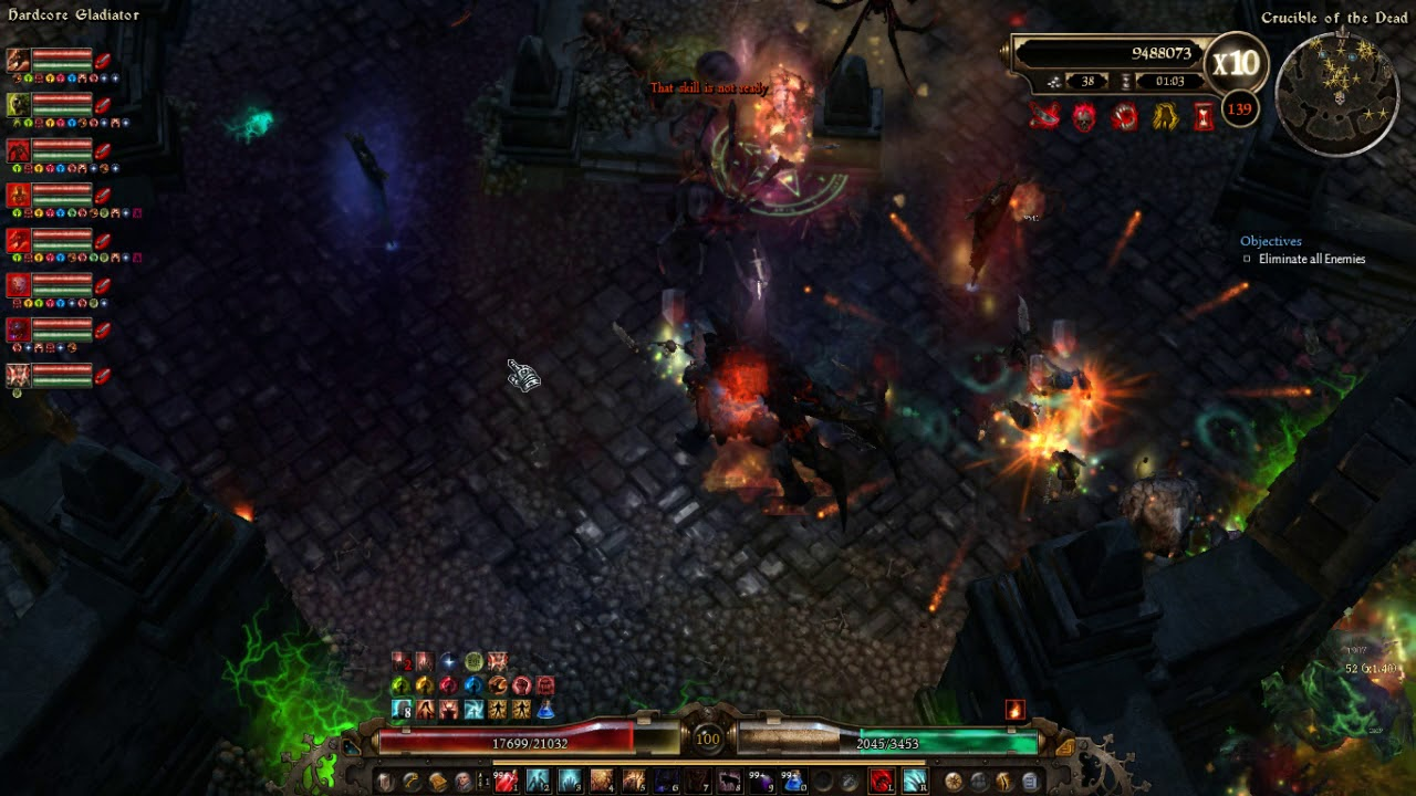 Grim Dawn - Crucible Wave 120 - 150 World's First (Hardcore Gladiator)  Ritualist Pet Build