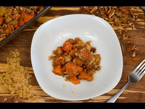 Thanksgiving Roasted Sweet Potatoes with Brown Sugar Pecan Crunch | Risko Family Thanksgiving