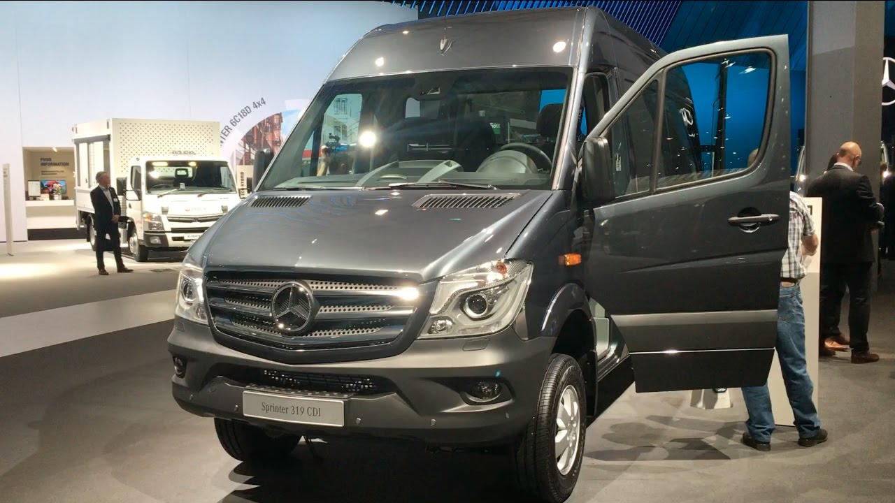 mercedes benz sprinter 319 cdi 2016 in detail review walkaround interior exterior youtube. Black Bedroom Furniture Sets. Home Design Ideas