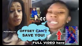 "Cardi B checked by Crips for misspelling Blue ""Offset Can't Save You!"" 😨🔵(Video & Receipts)"