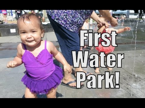 Babies' First Water Park! - June 09, 2015 -  ItsJudysLife Vlogs