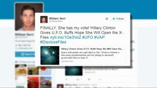 Hillary Clinton Promises the Truth About UFOs