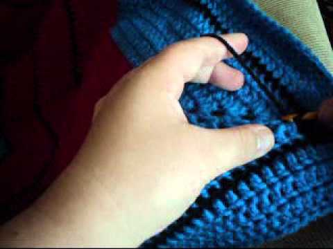 Crochet Surface Crochet Down A Round Ripple Afghan Youtube