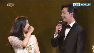 If Kim Jiwon were to choose between Park SeoJun vs. Jin Goo? [2017 KBS Drama Awards/2018.01.07]