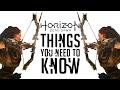 Horizon Zero Dawn: 10 Things You NEED TO KNOW