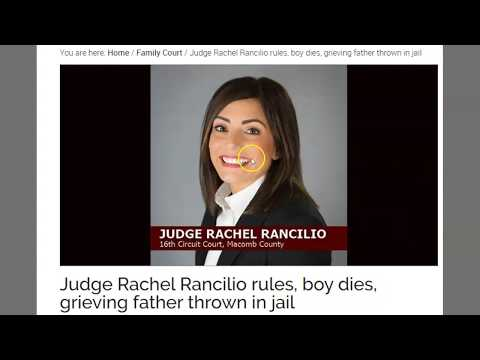 Judge Rachel Rancilio - Power Hungry Witch Throws Dad In Jail Because She Got His Child Killed