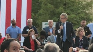 'Do something!' | Crowd drowns out Ohio Gov. Mike DeWine's speech at vigil honoring those killed in