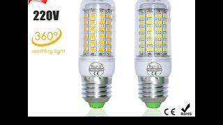 Светодиодная лампа(кукуруза) под цоколь E27.E27 LED Corn Bulb.(, 2015-02-06T17:06:21.000Z)